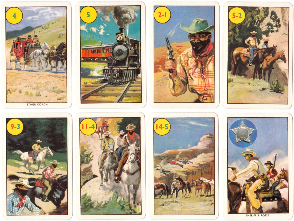 Wild West card game published by Pepys, 1963