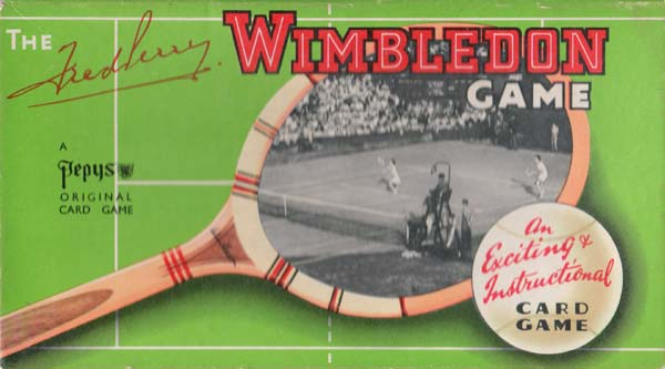 Wimbledon card game published by Pepys (Castell Bros Ltd), 1959