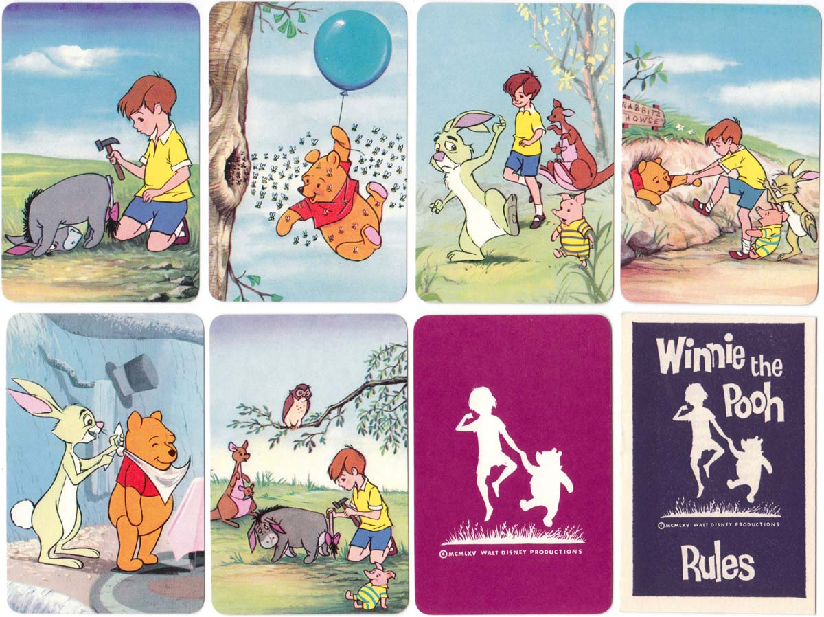 Winnie the Pooh card game published by Pepys Games 1965