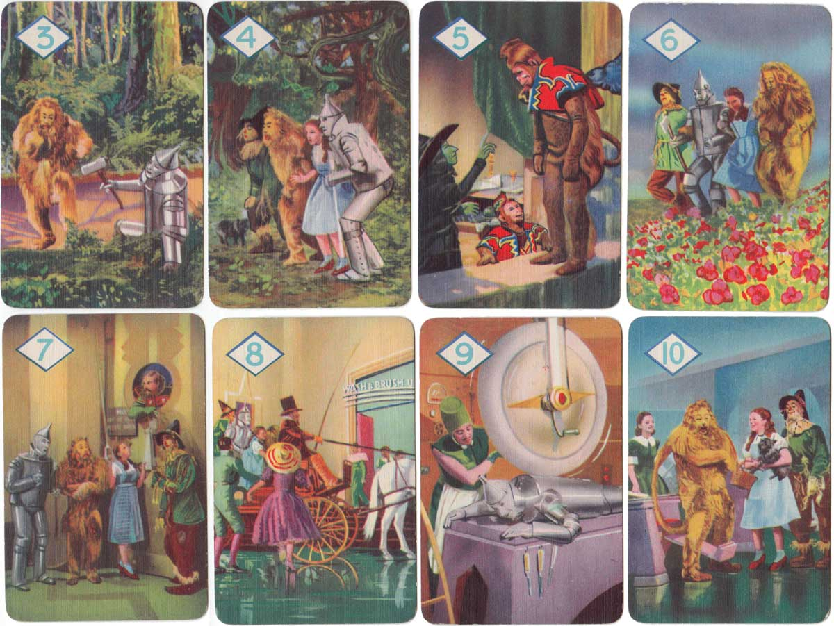 Wizard of Oz card game published by Pepys, 1940