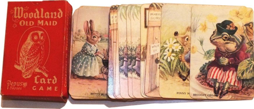 Woodland Old Maid, a Pepys Card Game illustrated by Racey Helps, first published c.1957