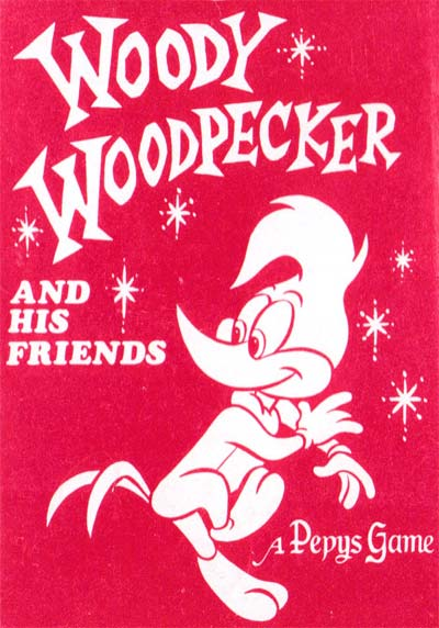 Woody Woodpecker card game, Pepys, 1975