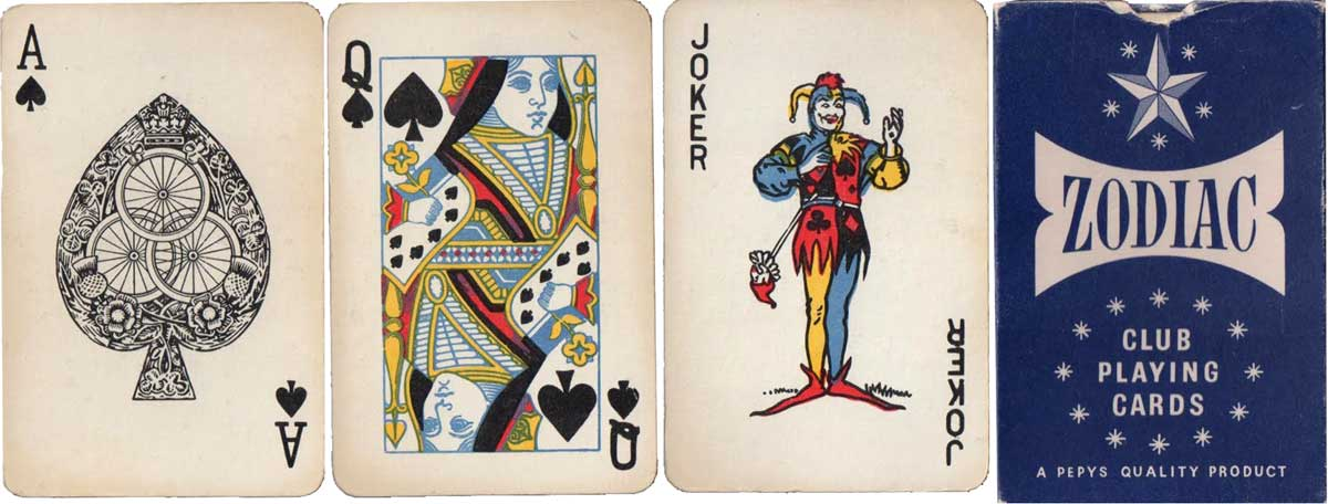 Zodiac Club Playing Cards for Pepys, c.1971-75