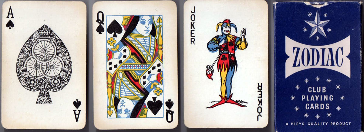 Waddingtons Zodiac Club Playing Cards for Pepys  c.1972