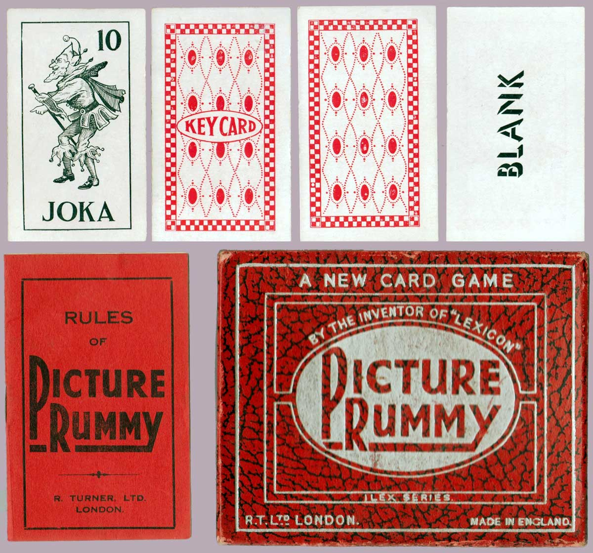 Picture Rummy by R. Turner Ltd, 1st edition, 1937