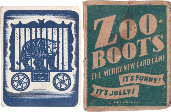 Zoo-Boots published by E. S. & A. Robinson, c.1930s