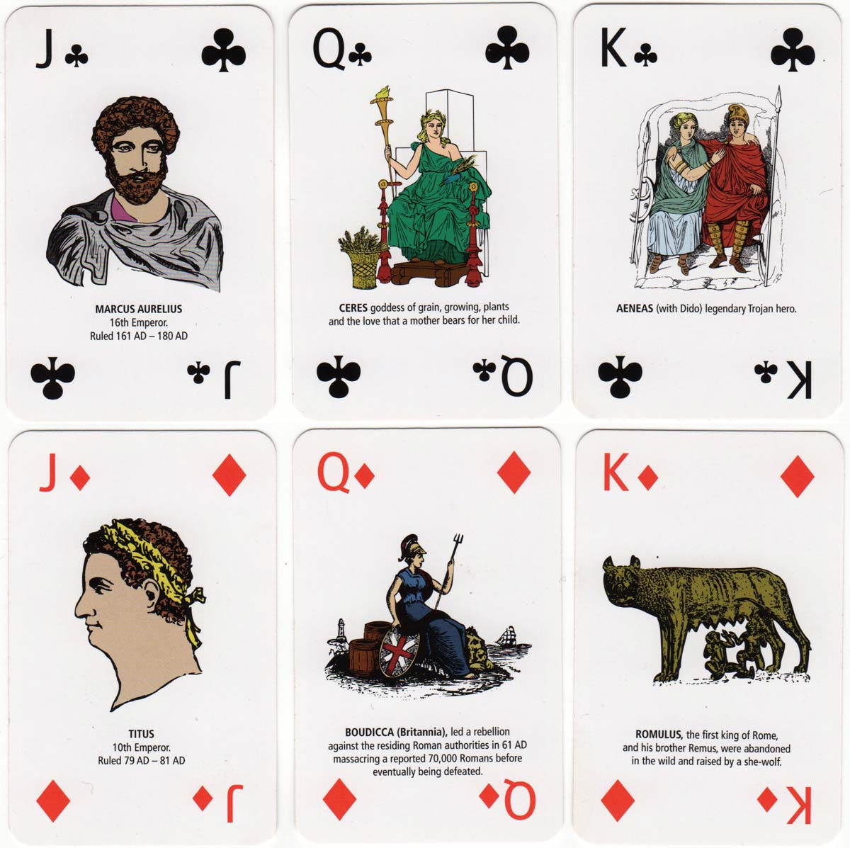 Roman Empire playing cards by Green Board Game Co Ltd., 2011