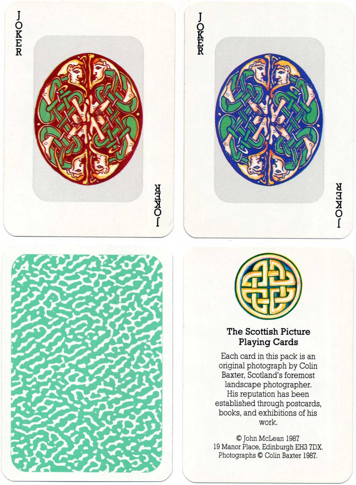 Scottish Picture Playing Cards featuring photographs by Colin Baxter, 1987