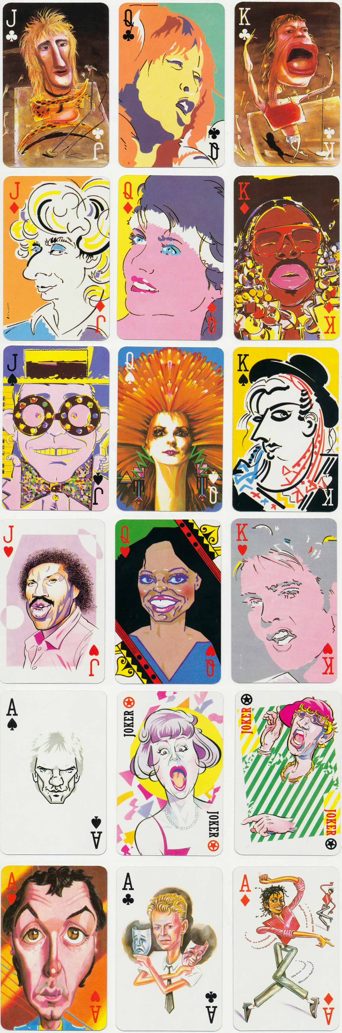 Sony Tape Rock 'N' Pop Playing Cards
