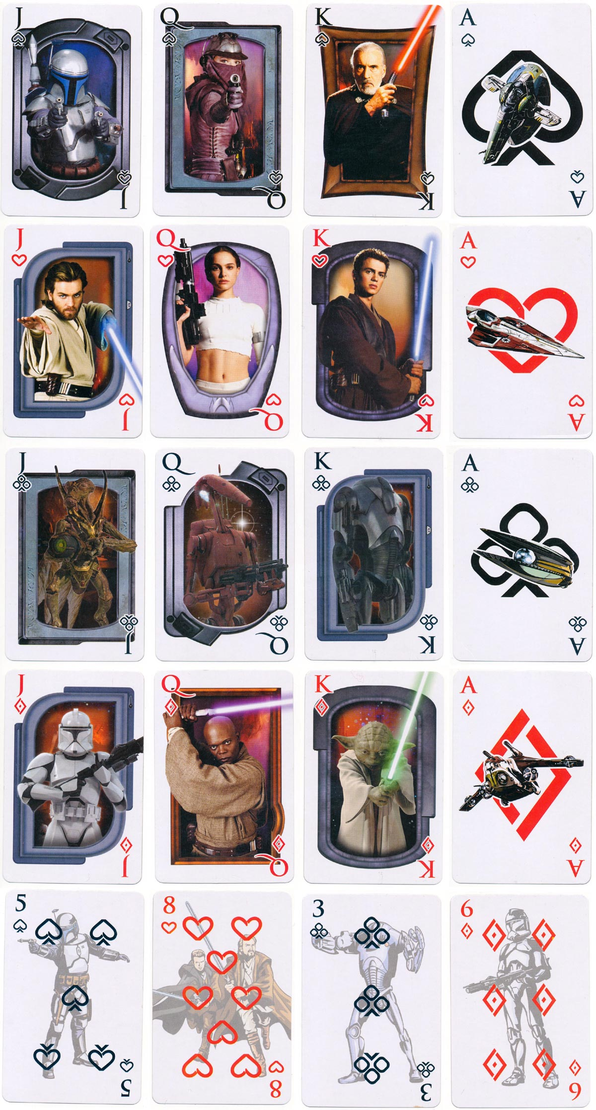 Star Wars Playing Cards produced by Character Games  © 2002 Lucasfilm Ltd