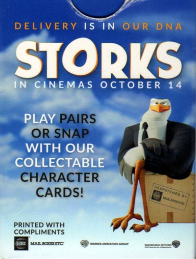 "Snap game based on characters from the film ""Storks"" c.2016"