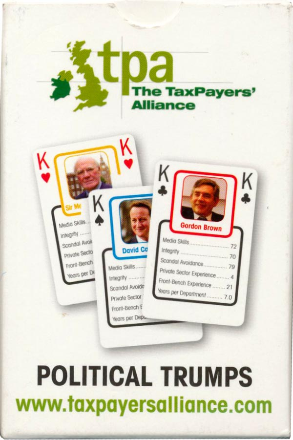 Tax Payers' Alliance Political Trumps, first produced in 2007