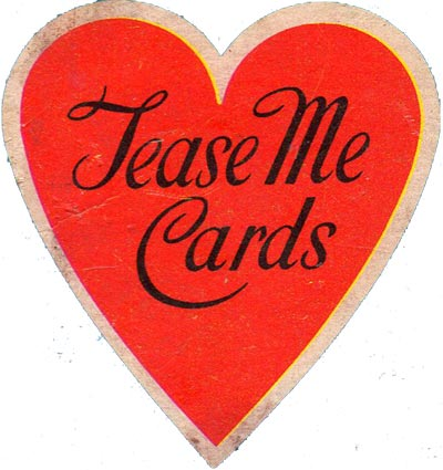'Tease Me' pin-up playing cards published by Cotswold, c.1960s