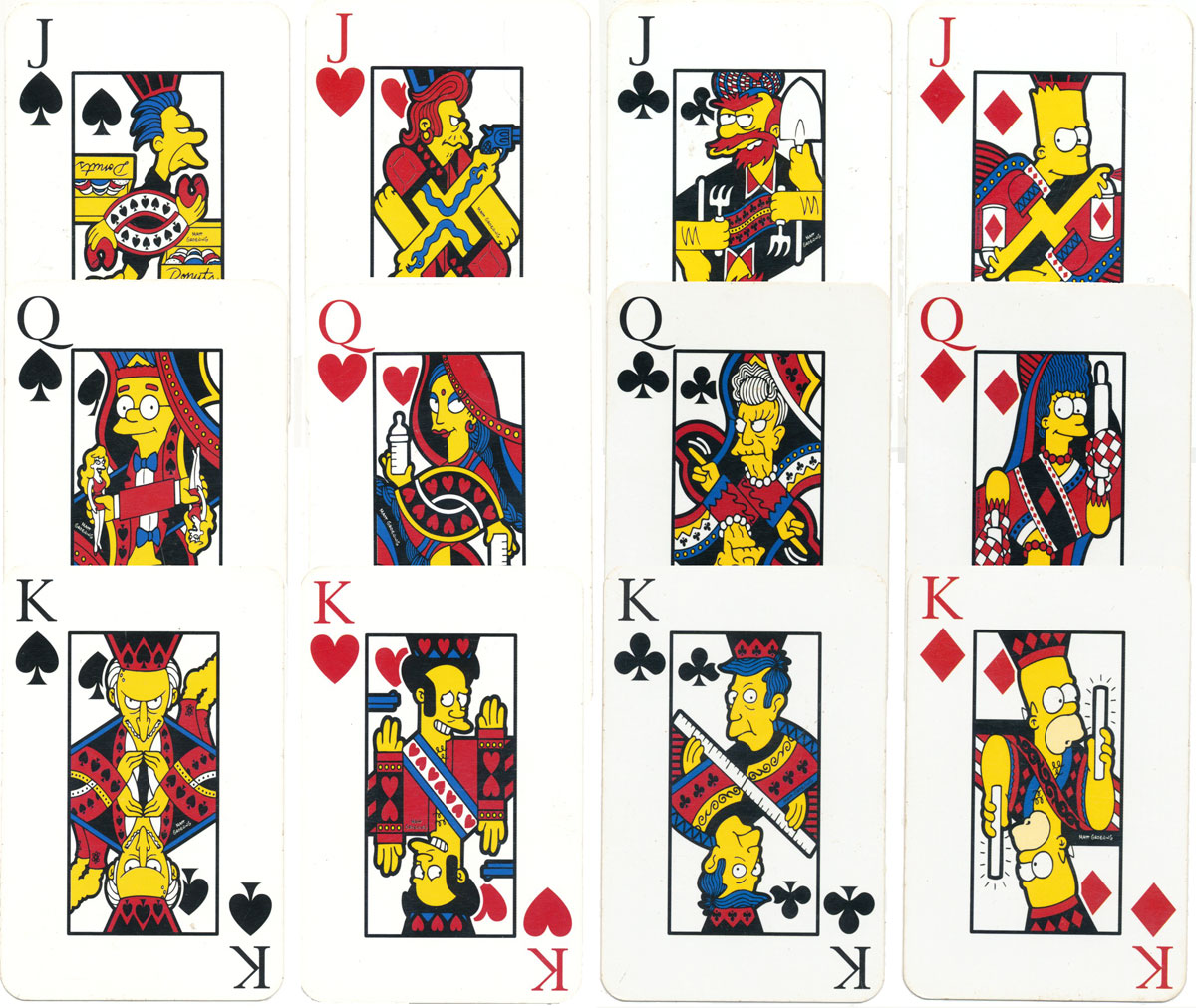 'The Simpsons' playing cards produced by Winning Moves Games, 2003