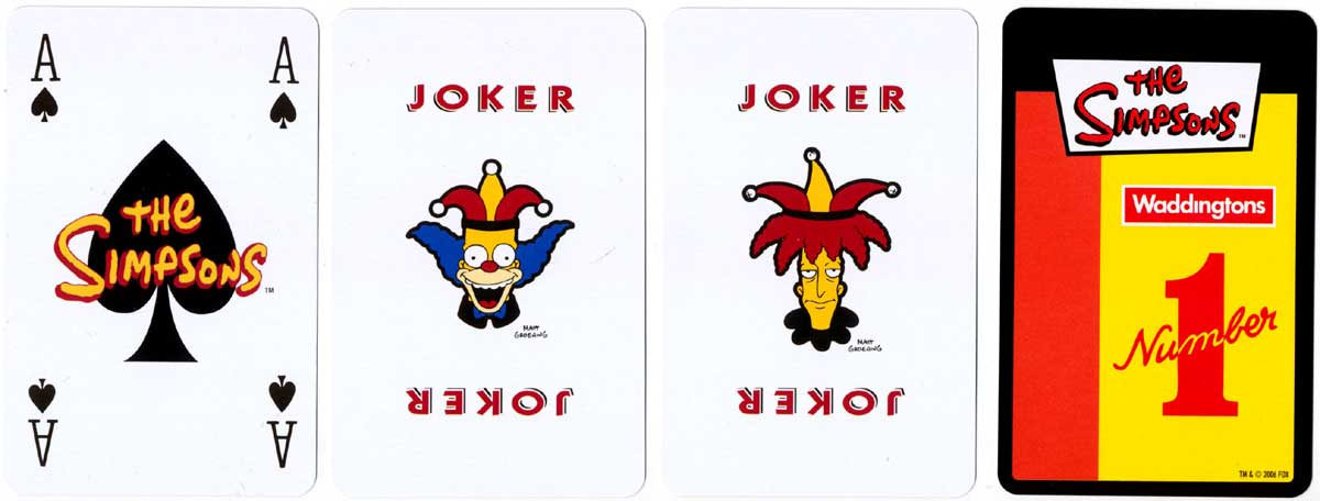 'The Simpsons' playing cards produced by Winning Moves Games, 2006