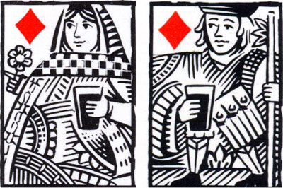 details from Theakston Brewery playing cards