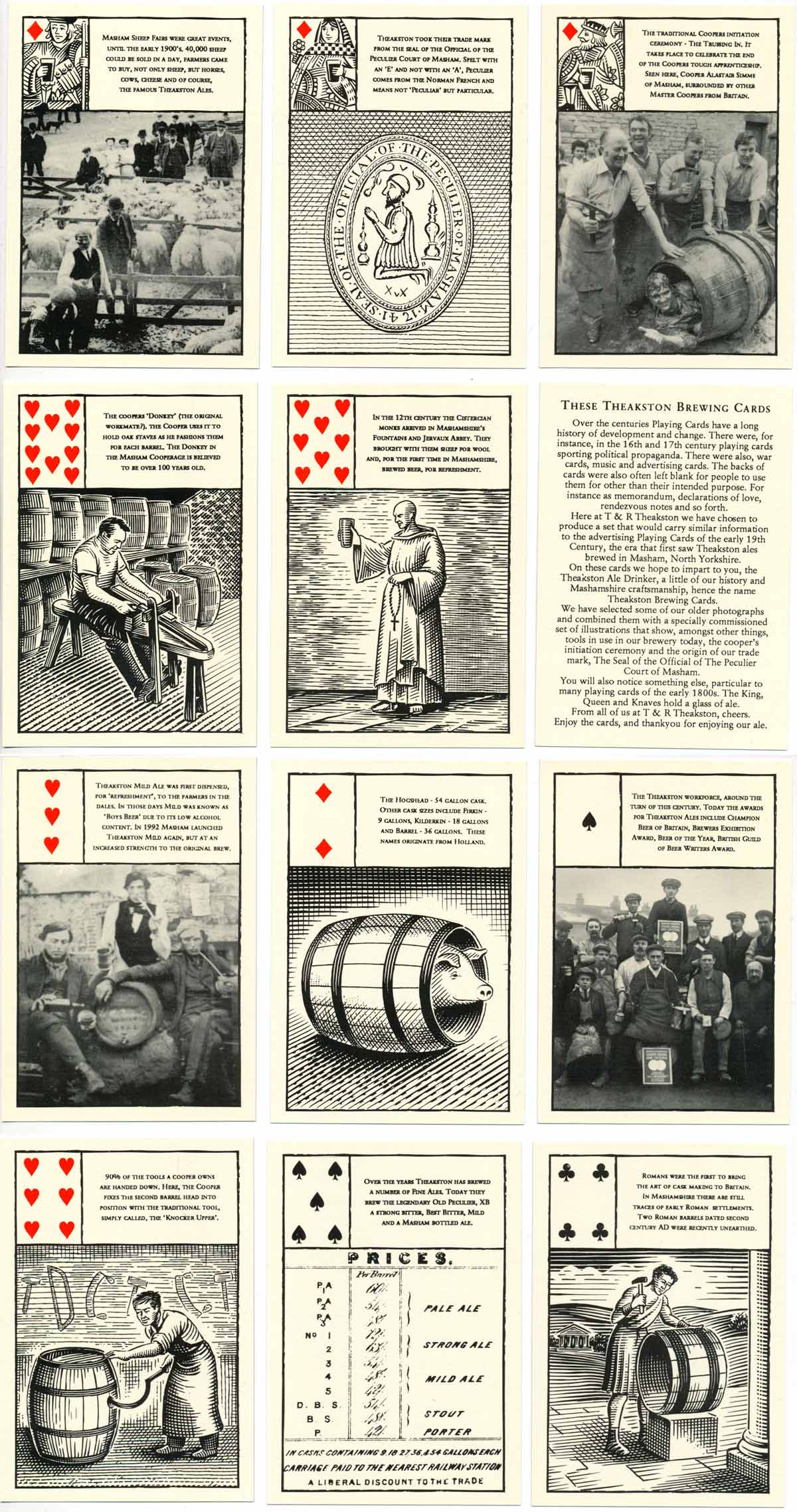 Theakston Brewery playing cards, 1990s