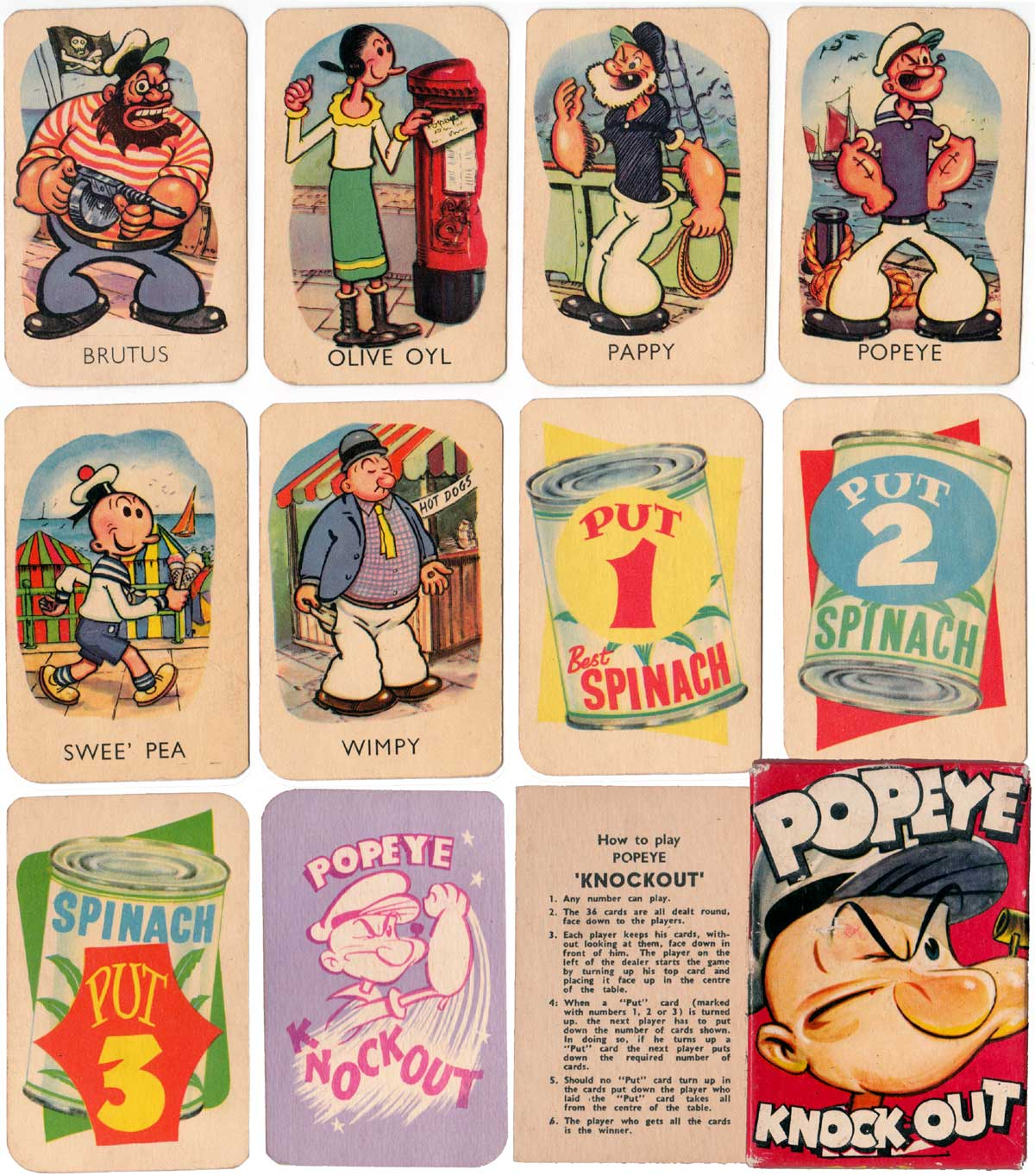 Popeye Knockout No.6586 by Tower Press, c.1961
