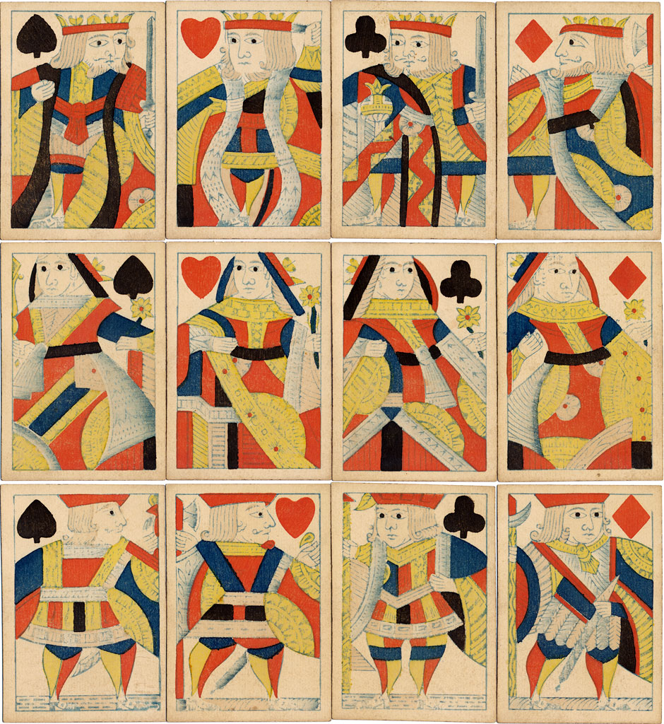 standard English playing cards manufactured by J.L. & J. Turnbull, London c.1840