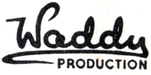 Waddy Productions logo, 1930s