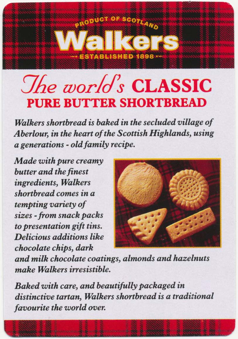 Advertising Deck for Walkers Shortbread, c.1998