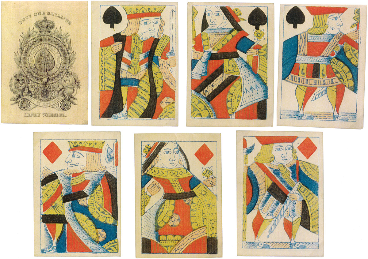 Playing Cards manufactured by Henry Wheeler