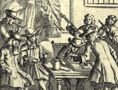 detail from William Warter's Proverbial Cards, first published in 1698