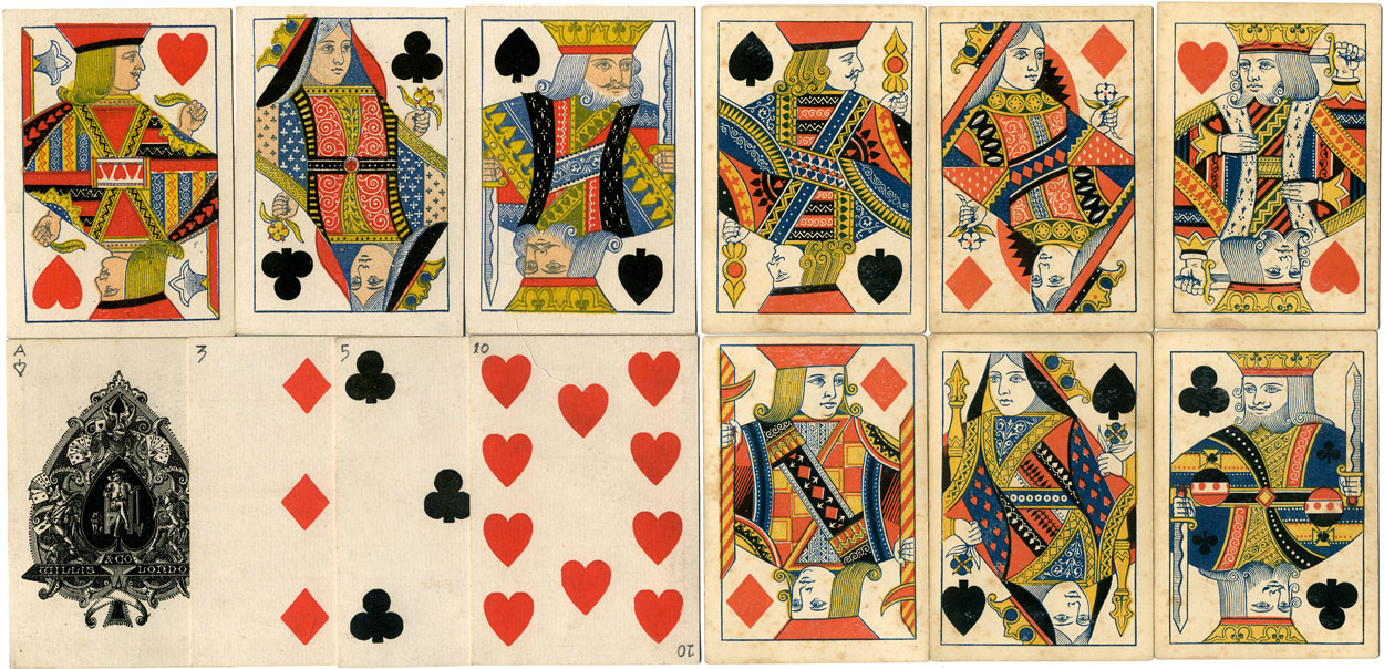 Willis playing cards, c.1875