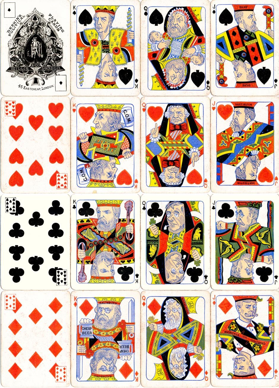 Deakin's Political Playing Cards, 1st edition, 1886