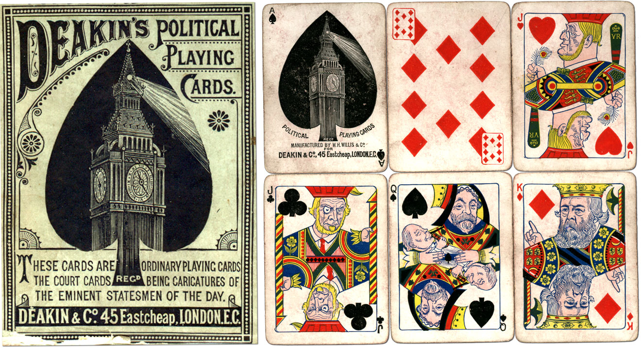 Deakin's Political Playing Cards, c.1886-88