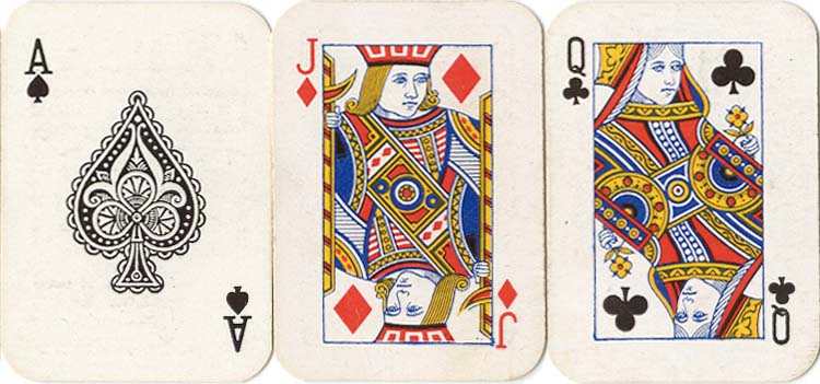 Jersey Tobacco Co. miniature playing cards, 1933