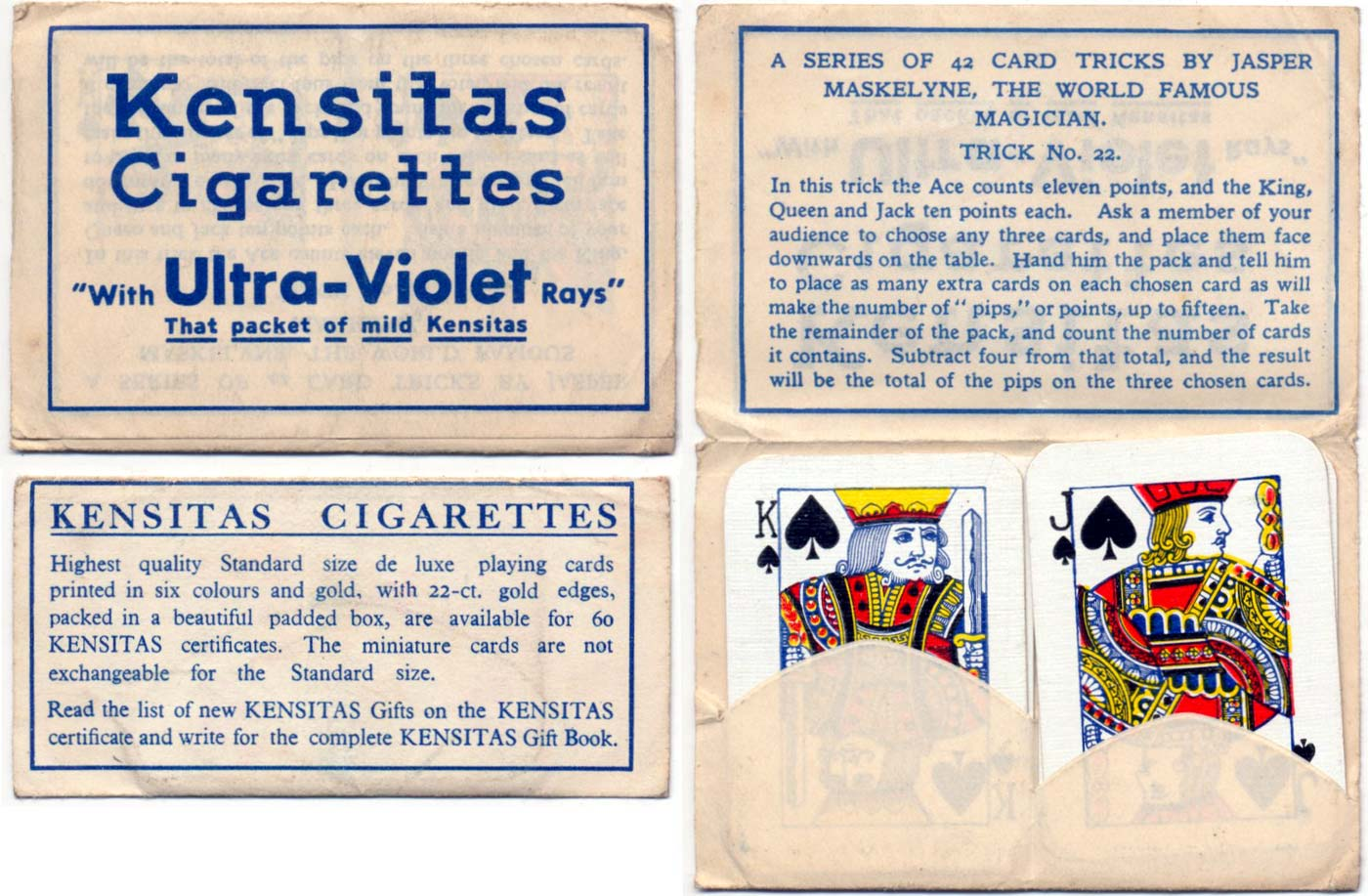 Wix Miniature Playing Cards for Kensitas c.1935
