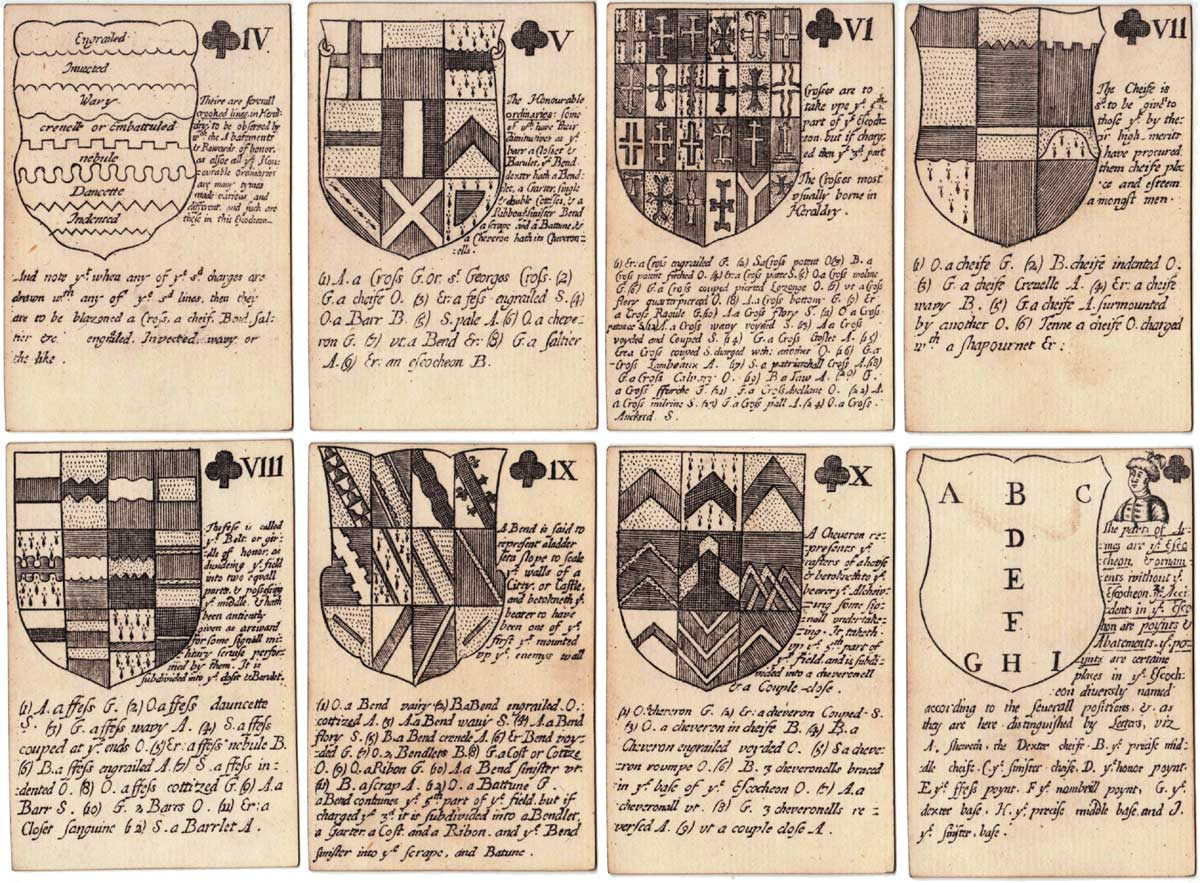 Reproduction of Richard Blome's Heraldic playing cards, 1684