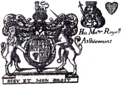 Detail from Richard Blome's Heraldic playing cards, 1684