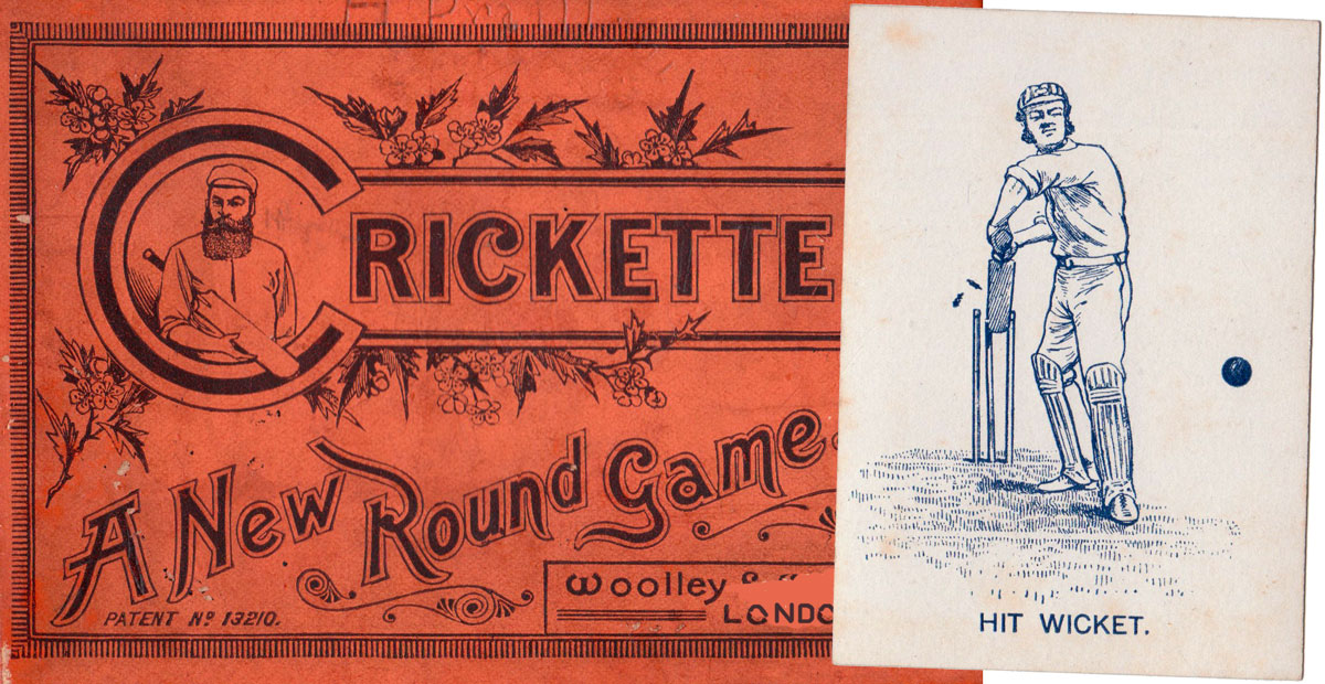 """Crickette"" card game manufactured by Woolley & Co., London, c.1890"
