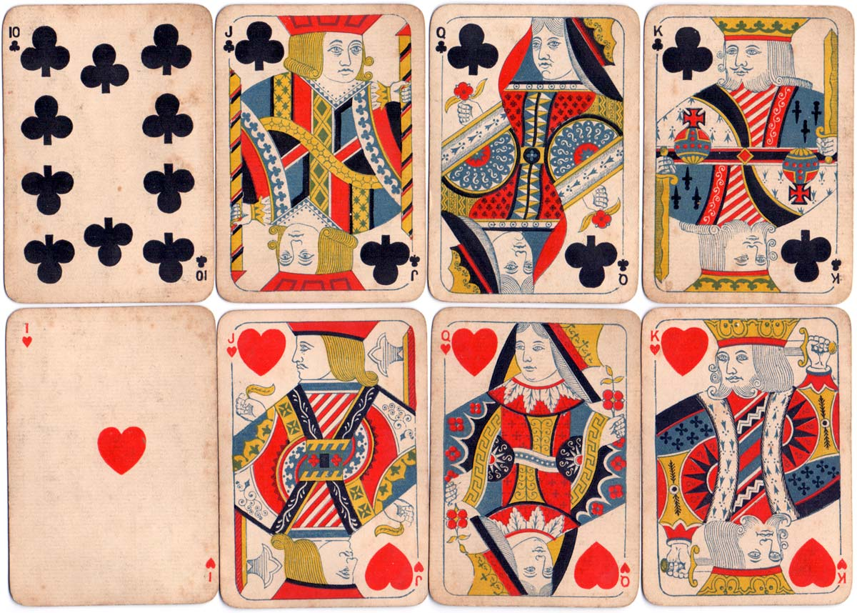"Woolley & Co: ""Eureka"" playing cards with rounded corners and small index pips, c.1880-1885"