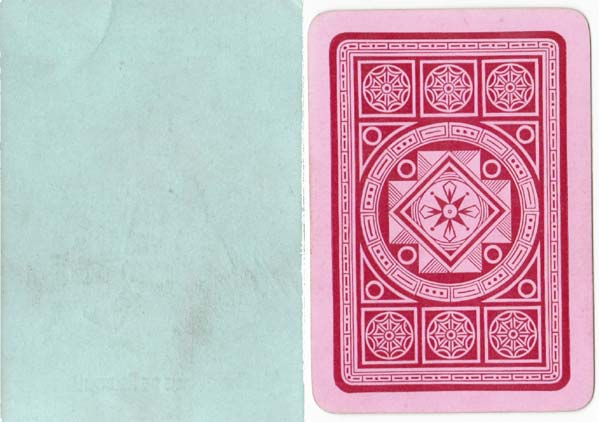 "backs from ""Funny Families"" card game manufactured by Woolley & Co, 1890s"