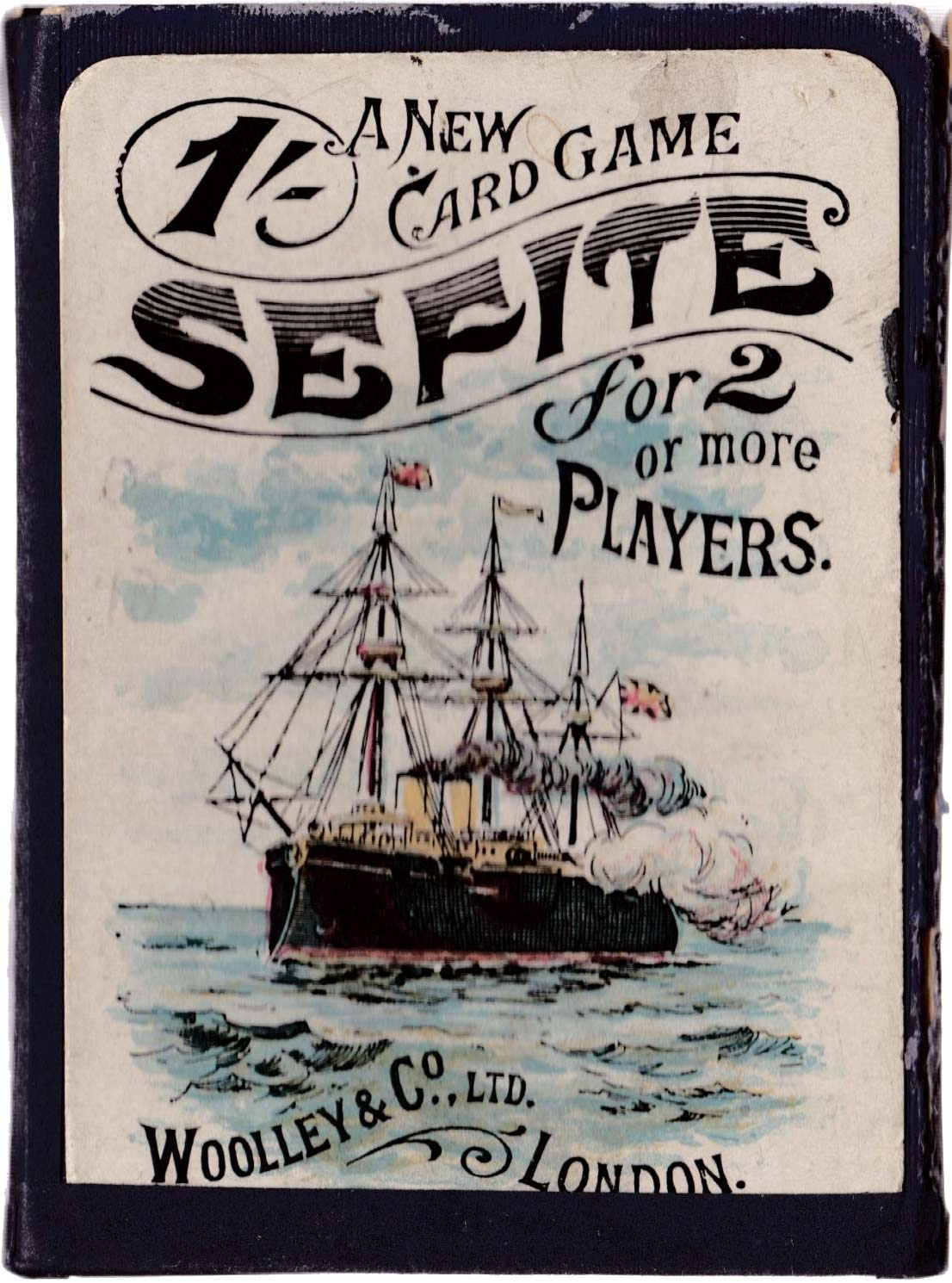 """Sefite"" card game manufactured by Woolley & Co Ltd, London c.1905"