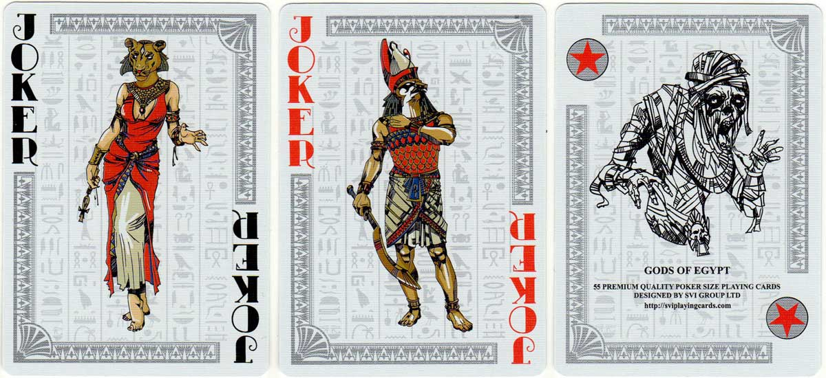 Gods of Egypt playing cards published by SPCC, 2018