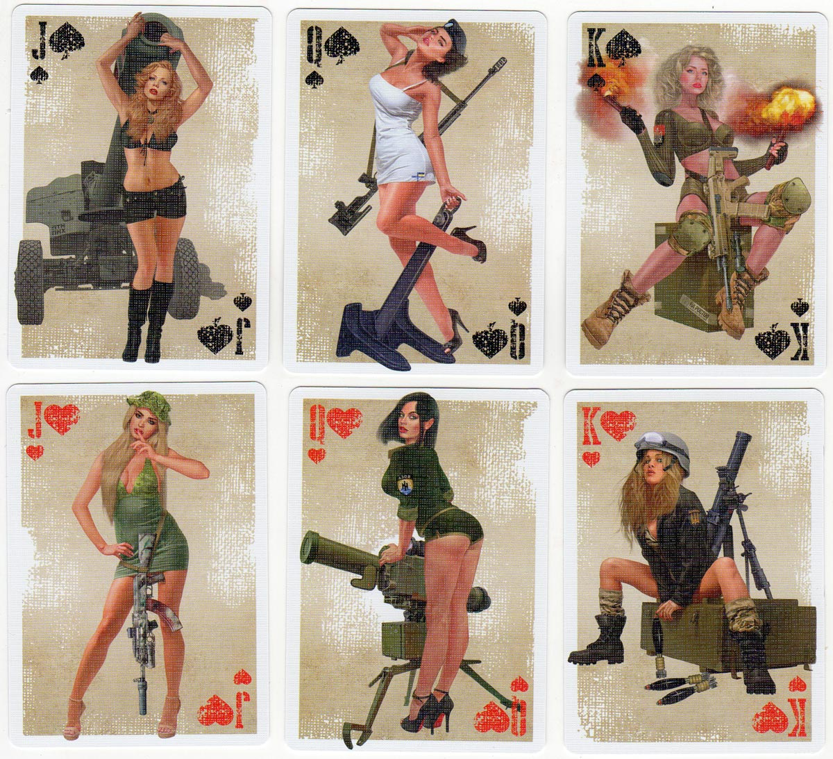 Military Pin Up playing cards created by Sviatoslay Pashchuk, 2019