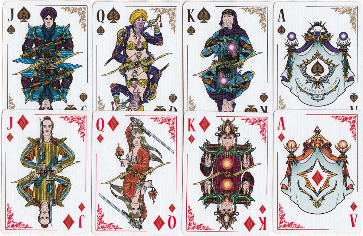 Star Kings playing cards inspired by space opera, 2017
