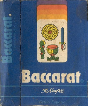 Naipes 'Baccarat' manufactured by Akosol S.A., Montevideo, Uruguay, c.1980s