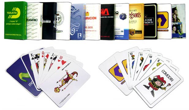 Selection of playing cards published by Impresos Manrique