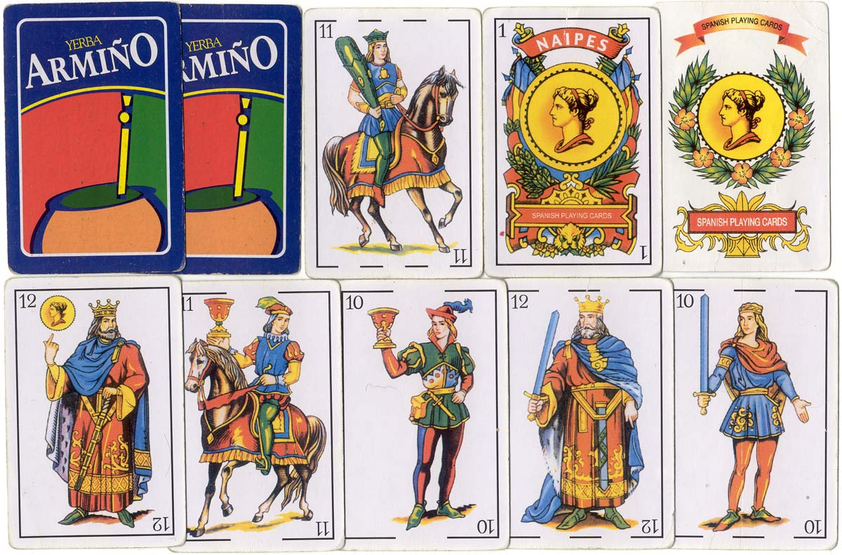 Spanish-suited playing cards for Yerba Armiño