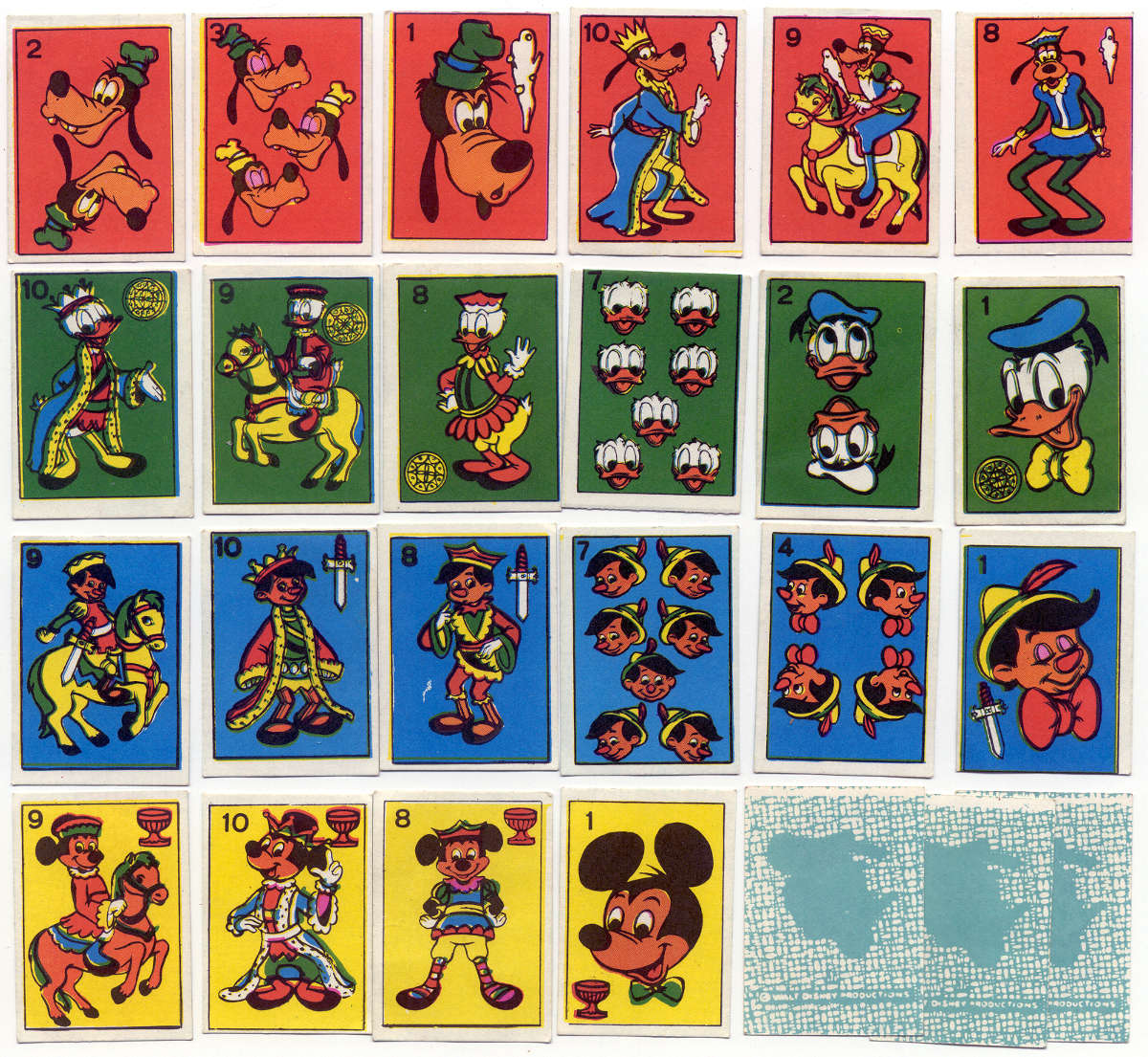 Children's miniature Walt Disney playing cards, Uruguay, c.1990