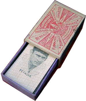 box from 'Gauchito' children's miniature playing cards, Montevideo, c.1928