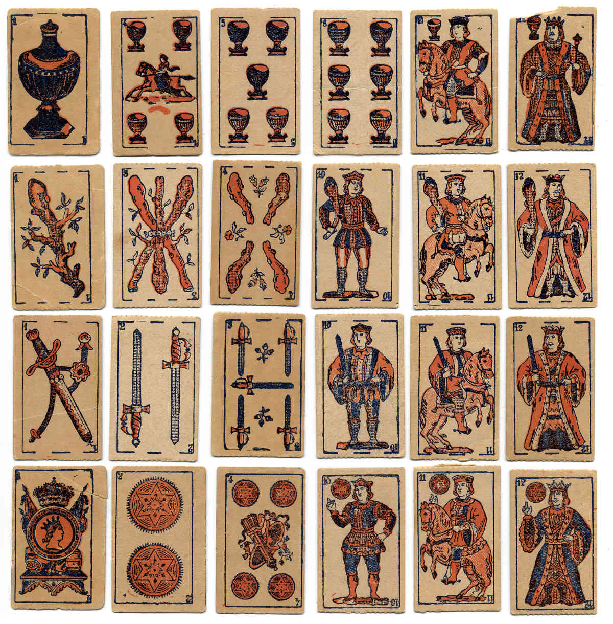 Children's miniature playing cards with Proverbs and Maxims, anonymous manufacturer, Montevideo, c.1928