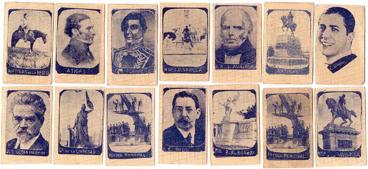 Children's miniature popular heroes and celebrities cards, Montevideo, c.1928