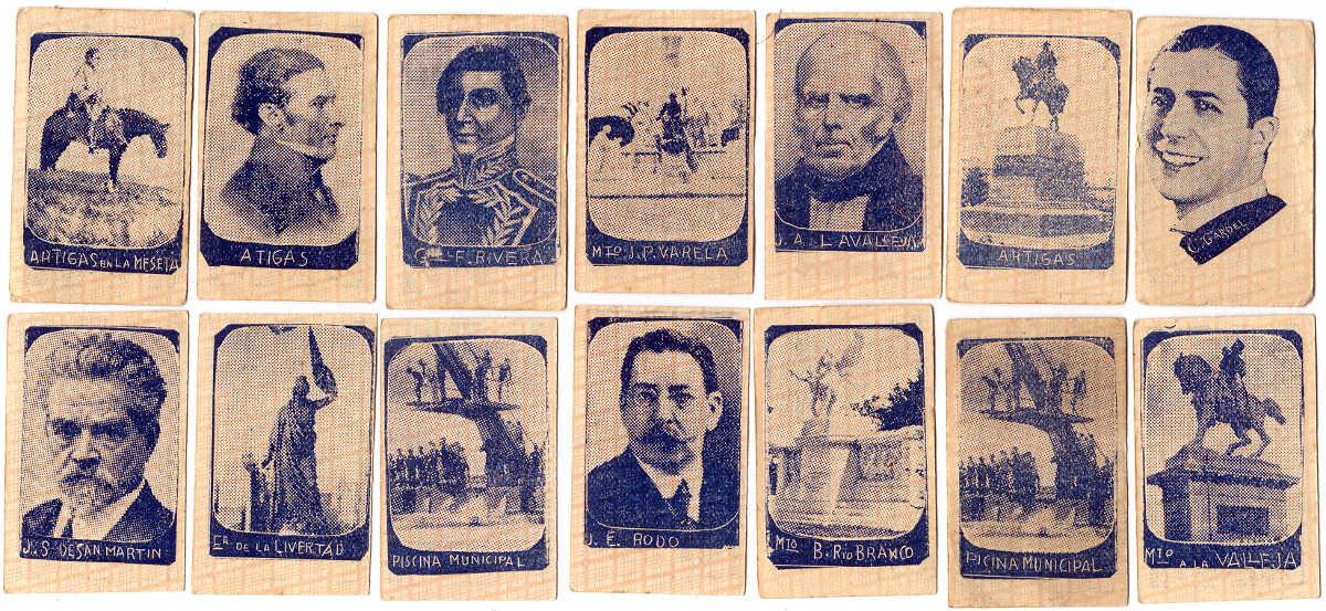 Children's miniature popular heroes and celebrities cards, Montevideo, c.1928