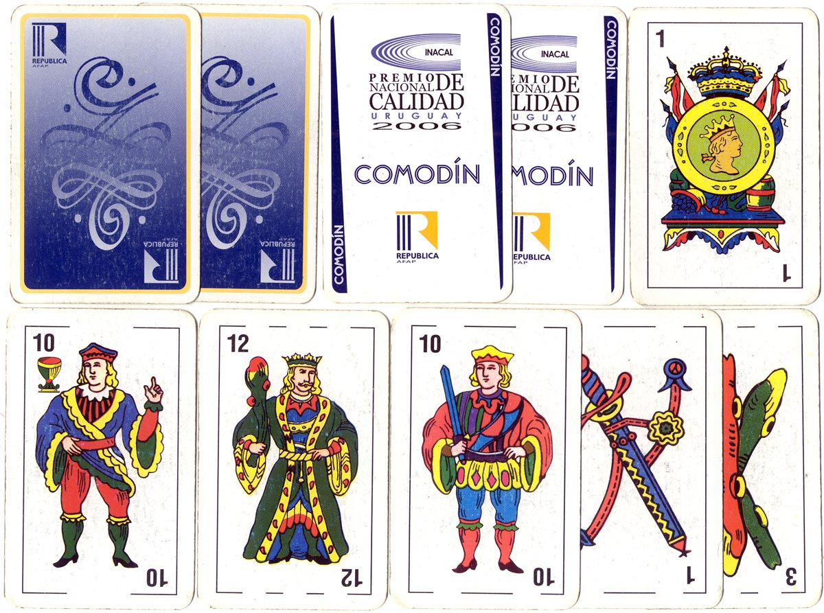 Spanish-suited playing cards made specially for the Instituto Nacional de Calidad 2006 awards